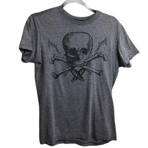 Aeropostale Gray Skull Cross Bones Pirate T Shirt